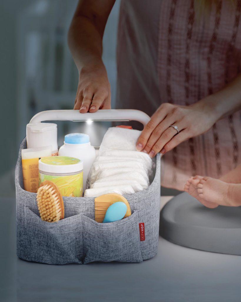 Skiphop light-up diaper caddy